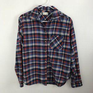 Aritzia Wilfred Free Plaid Shirt